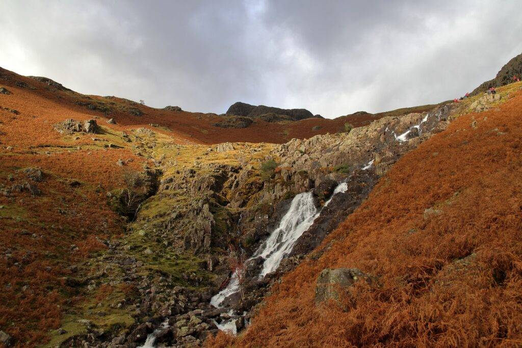 waterfall cumbria lake district